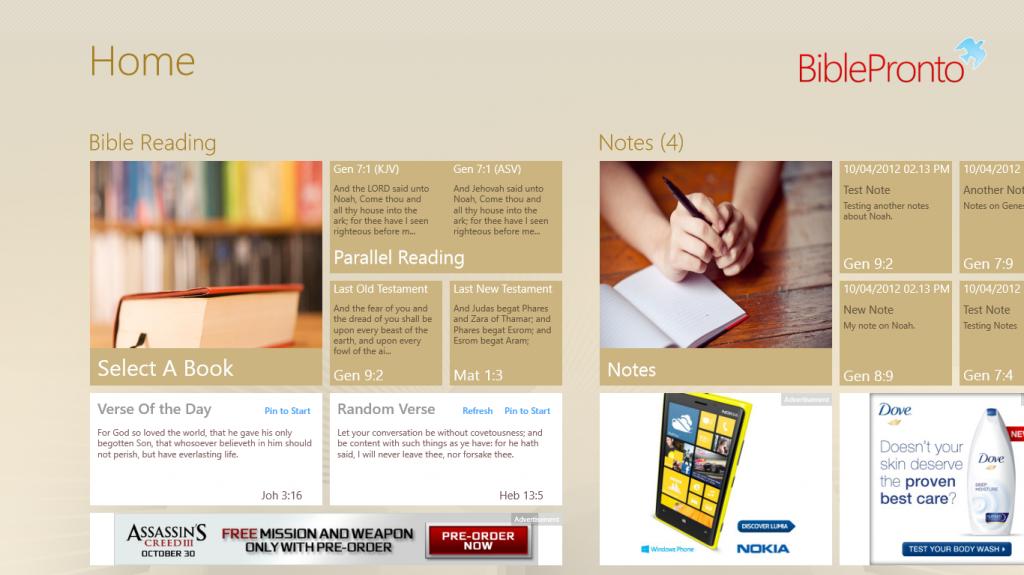 Free Bible App for WinRT/Windows8