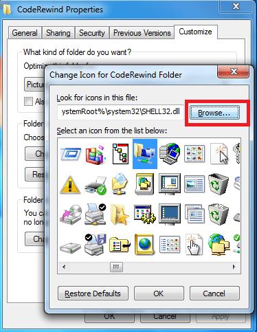 customize folder icons