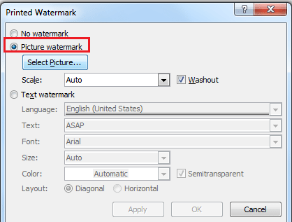add watermark in word