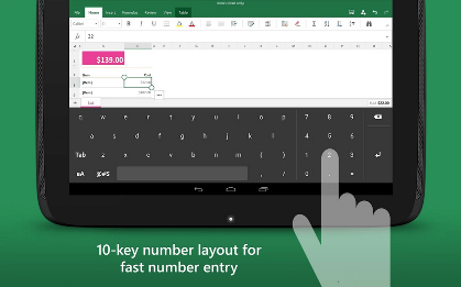 Keyboard for Excel
