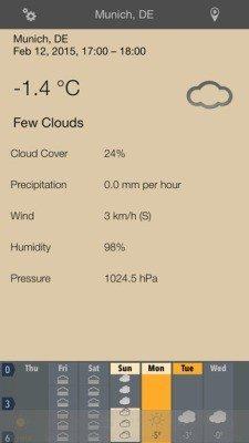 Week Weather app