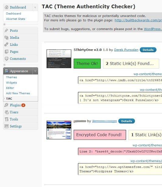 WordPress plugins to detect malicious code