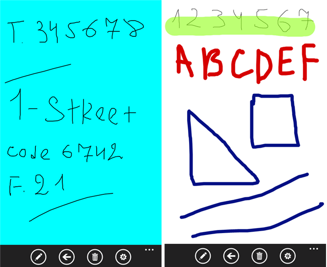 windows phone handwriting apps
