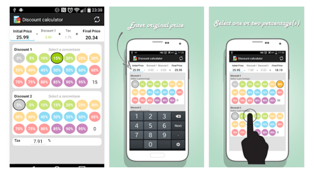 android discount calculator apps