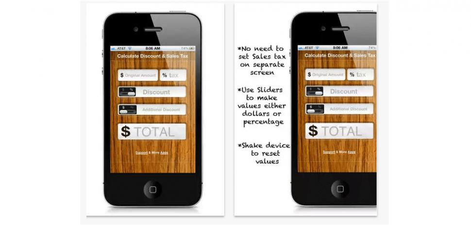 iOS discount calculator apps