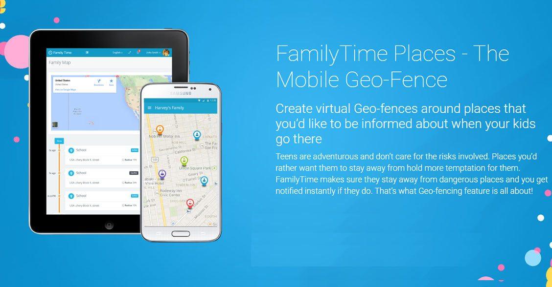 familytime geo fencing