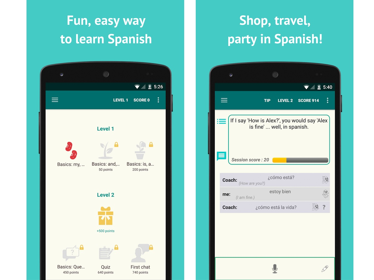 Android Spanish Learning Apps