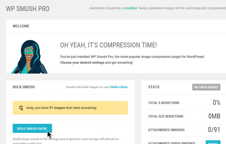 wp smush image compression wordpress plugin